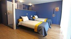 Chambre double avec les lits séparés