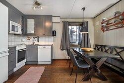 Kjøkken 6 sengs leilighet Solsiden