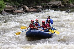 Happy, smiling faces on a whitewater adventure!
