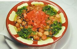 Fooul with olive oil (Fava Beans)