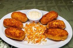 deliciosas croquetas de pollo