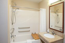 ADA/Handicapped accessible Guest Bathroom with tub