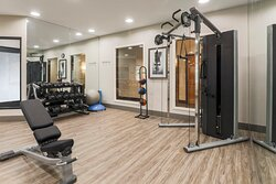 Our Reno hotel gym features free weights and cardio equipment.