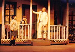 The Des Moines Playhouse has presented a season of musicals, comedies, dramas, and family shows every year since 1919. Pictured: To Kill a Mockingbird, 1987-88 Season.