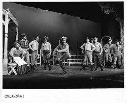 The Des Moines Playhouse has presented a season of musicals, comedies, dramas, and family shows every year since 1919. Pictured: Oklahoma!, 1965-66 Season.