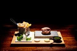 Fillet steak on a hotstone