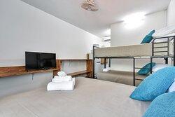 Family Room, One Queen One bunk, sleeps 4