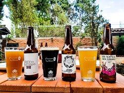 Nuestras cervezas las puedes encontrar en Tap y botella