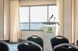 Back drop of the water at the Holiday inn Kingston Waterfront