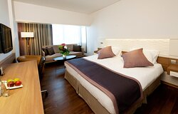 Enjoy a spacious King City View room during your stay!