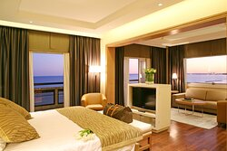 Spectacular views from the Olympian Suite at our Limassol hotel!