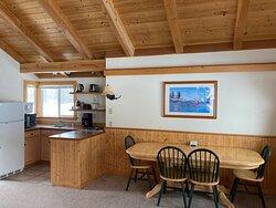 "Cabin ""B"" - Kitchenette/Dining Area (Winter)"