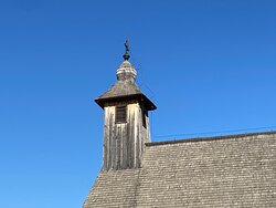 The bell tower of the church.