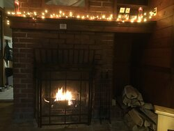 Cozy Cabin 11 @ Hungry Mother State Park. You have to bring your own fairy lights but there is an outlet above the mantle!