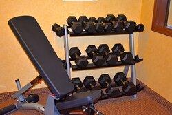 Holiday Inn Express Dewitt free weights
