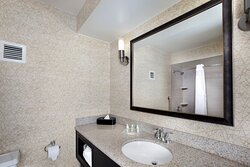 Enjoy getting ready for the day in our guest bathrooms.