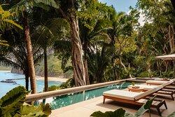 Villa Jaguar Pool Sunbeds View Wide