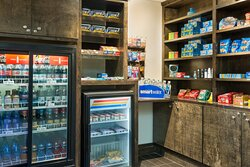 24 hour market located in lobby with food, beverage and sundries