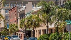 Historic Galveston buildings.