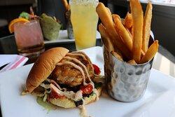 Maryland Crab Cake Sandwich Hotel Indigo Baltimore #MyBmore