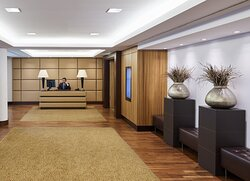 The reception area of one of 14 conference rooms.