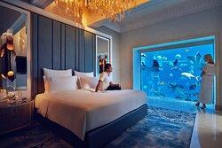 Underwater Suite Bedroom Couple