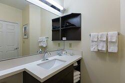 Spacious Guest Bathroom with plenty of storage