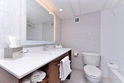 Sparkling clean guest bathrooms