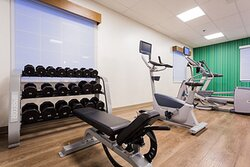 New state of the art fitness center with weight set