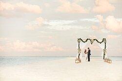 Sandbank Wedding Couple