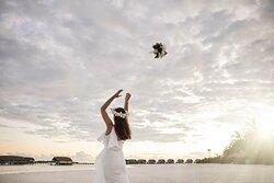 Sandbank Wedding Bride Bouquet