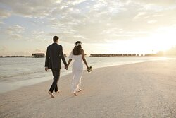 Sandbank Wedding Couple Walk