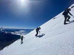 Últimos metros a la cumbre del volcán Osorno