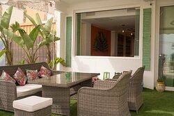 La terraza.