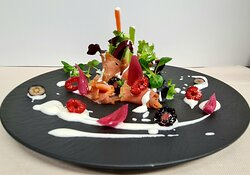 salmone e verdure