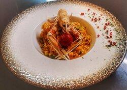 Shrimp risotto.