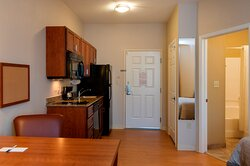 Each Kitchen equipped 2 burner stove, refrig, micro, dishwasher...