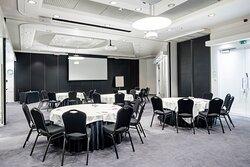 Cabaret setup at the Töölö 3-4 meeting room