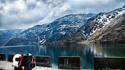 'Tsomgo Lake, also known as Tsongmo Lake is a glacial lake in the East Sikkim district of the Indian state of Sikkim, some 40 kilometres from the capital Gangtok.
