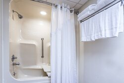 Guest Bathroom with ADA rails in bathtub
