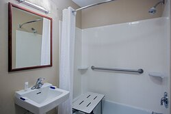 ADA/Handicapped accessible Guest Bathroom with transfer shower