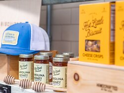 Shop Callie's Hot Little Biscuit southern staples like cheese crisps, jams, honey, and hats!