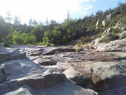 left branch rocks