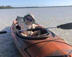 My girl trying out the paddle