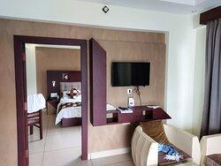 SUITE - Living Room overseeing Bedroom