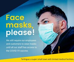 Our servers will be exposed to thousands of travelers these coming weeks. Let's keep them as safe as we can from the coronavirus, by wearing masks when choosing a table and ordering our dinner. Thank you!
