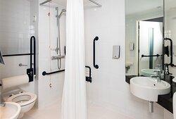 Our modern, accessible en suite