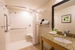 ADA / accessible Guest Bath with roll-in shower