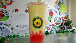 Pineapple Smoothie in Fort Myers. Bubble Near Me. Paradise Smoothie Bubble Tea Coffee. #paradisesmoothie #bubbletea #bobatea #gctc #franchise #bobateanearme #bubbleteanearme