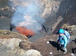Nuestra guía en el Volcán Villarrica!